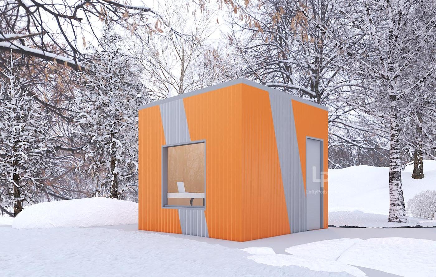 Cabin orange & gray 9